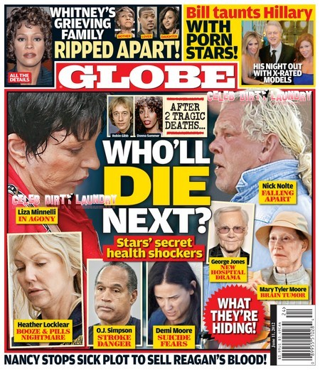 GLOBE: Death Watch For Demi Moore And O.J. Simpson