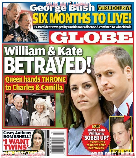 GLOBE: Kate Middleton Tells Prince William To Sober Up After Heartbreak (Photo)
