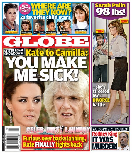 GLOBE: Kate Middleton Tells Camilla Parker-Bowles 'You Make Me Sick!'
