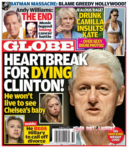 GLOBE Magazine: Bill Clinton Begs Hillary To Call Off Divorce!