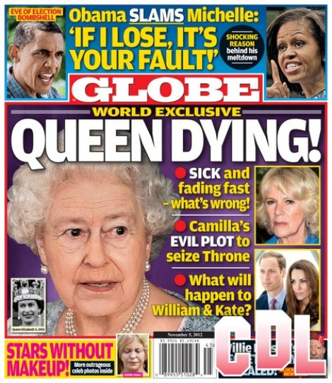 GLOBE: Queen Elizabeth Dying – Camilla's Evil Plot To Seize The Throne Revealed!