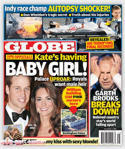Globe: Kate Middleton Is Having A Baby Girl