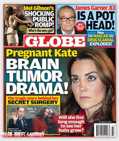 Globe: Pregnant Kate Middleton's Brain Tumor Crisis
