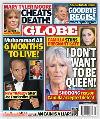 """Globe: Camilla Parker-Bowles Tells Kate Middleton """"I Don't Want To Be Queen'"""