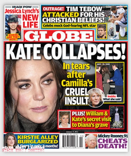 Globe: Kate Middleton Collapses (Photo)