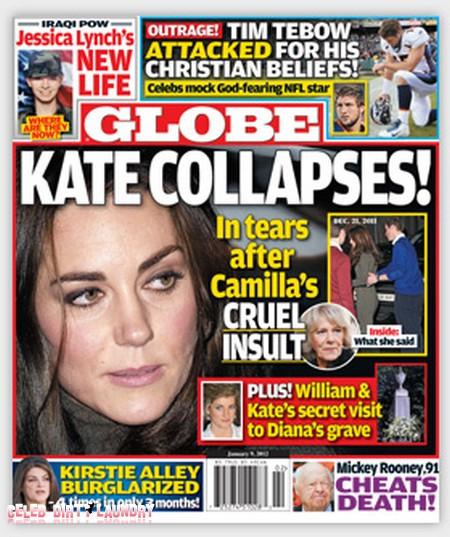 Globe: Kate Middleton Collapses (Photo)