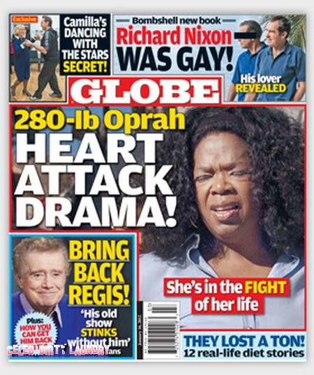 Globe: Oprah Winfrey's Heart Attack Crisis (Photo)