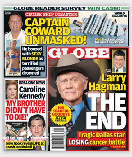 Dallas Star Larry Hagman Losing His Cancer Battle (Cover)