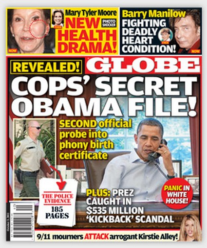 Globe: Cop's Secret Obama File
