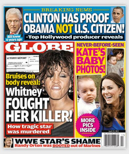 Globe: Brave Whitney Houston's Desperate Battle With Her Killer