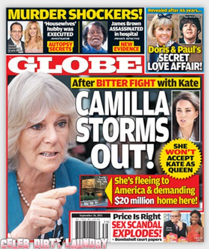 Globe: Camilla Parker Bowles Moving to NYC After Fight With Kate Middleton