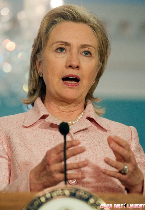 William Hague And Hillary Clinton Hold Press Conference In Washington