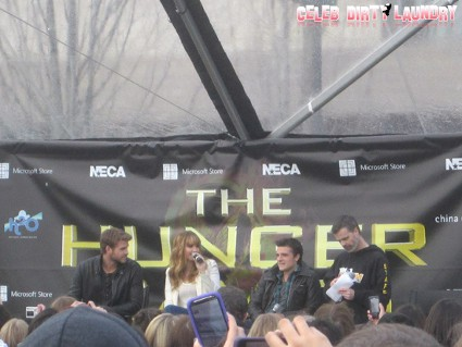 'The Hunger Games' National Mall Tour Seattle Stop: Live Q&A With Jennifer Lawrence, Josh Hutcherson, and Liam Hemsworth (Video)