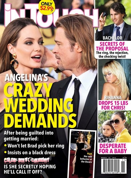 Angelina's Jolie's Crazy Wedding Demands (Photo)