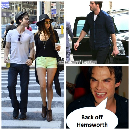"Ian Somerhalder Tells Liam Hemsworth ""Back Off Nina Dobrev"""