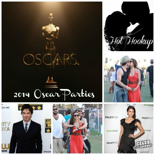 Ian Somerhalder and Nina Dobrev Hook Up During Oscar Parties