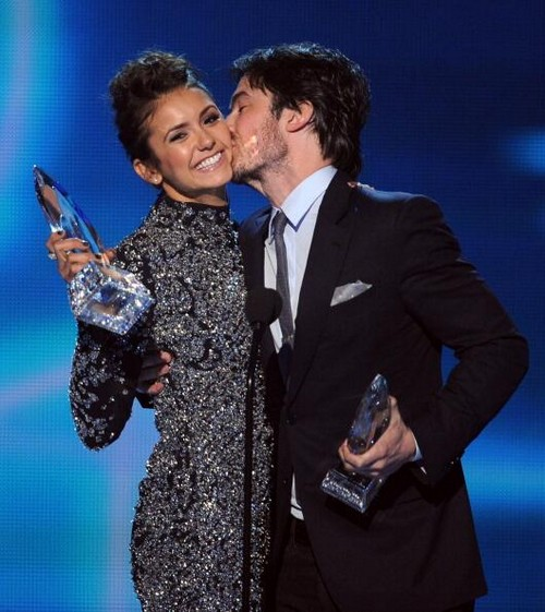 Ian Somerholder Flirts With Nina Dobrev: Naked on Vampire Diaries Set (VIDEO)