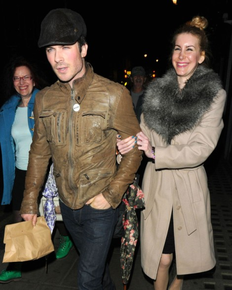 Ian Somerhalder Leaves Club With New Girl, Trying To Make Nina Dobrev Jealous? (PHOTOS) 0523