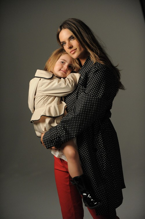 Alessandra Ambrosio & Daughter Anja For London Fog Spring 2013 Campaign (PHOTOS)