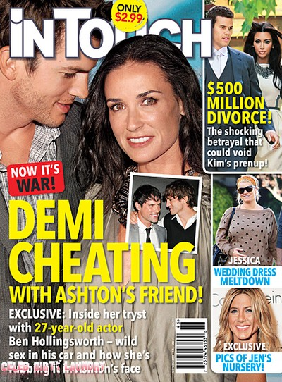 In Touch Weekly: Demi Moore Is Cheating With Ashton Kutcher's Friend Ben Hollingsworth