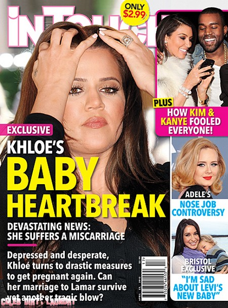 Khloe Kardashian Baby Heartbreak - She Suffers A Miscarriage (Photo)