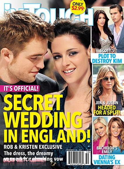 Secret Wedding In England For Kristen Stewart & Robert Pattinson (Photo)