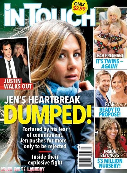 Heartbroken Jennifer Aniston Is Dumped By Justin Theroux (Photo)