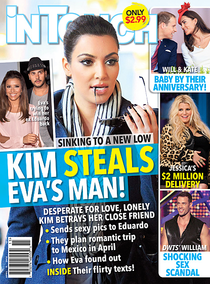 Kim Kardashian Steals Eva Longoria's Man By SEXting