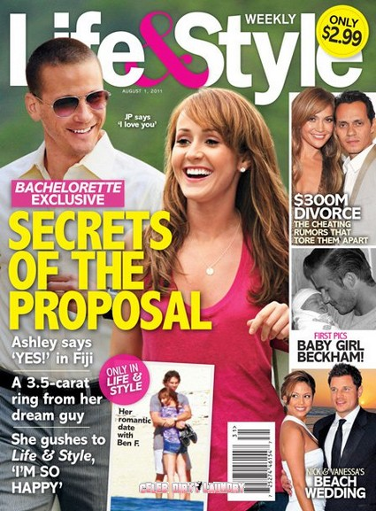 Life & Style Magazine: Secrets Surrounding The Bachelorette Ashley Hebert's Proposal