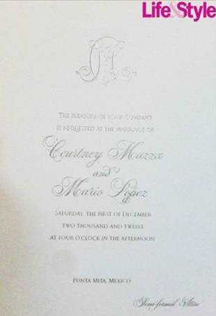 Mario Lopez Reveals Wedding Details: See The Invitation Here!