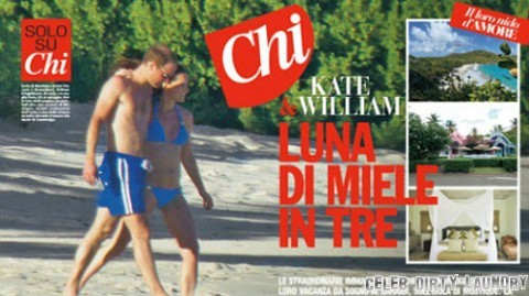 Italian-magazine-Chi kate and will bikini belly