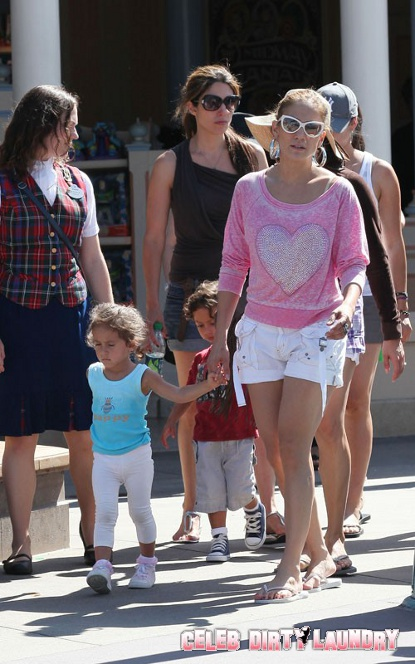 J Lo Spotted In Disneyland With Kids