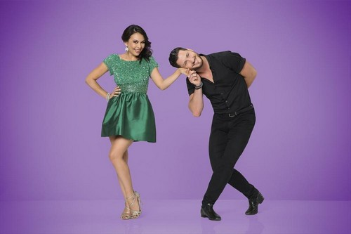 Janel Parrish and Val Chmerkovskiy Definitely Dating: Dancing With the Stars - Increase In PDA