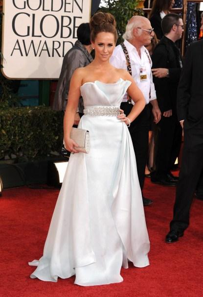 Jennifer Love Hewitt Arriving At The 68th Annual Golden Globe Awards