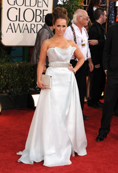 Jennifer Love Hewitt Arriving At The 68th Annual Golden Globe Awards