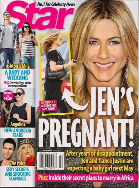 Jennifer Aniston Finally Pregnant! She's Having A Girl 1107