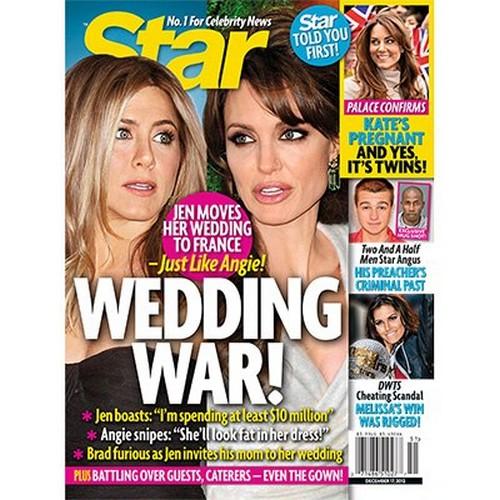 Bridezillas Gone Wild: Jennifer Aniston and Angelina Jolie Battle Over Weddings