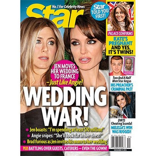 Bridezillas Gone Wild: Jennifer Aniston and Angelina Jolie Battle Over Weddings
