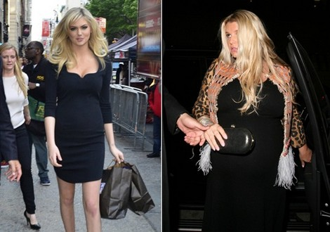 The Weight Debate – Jessica Simpson Fat But Not Kate Upton?