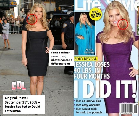 Busted: Jessica Simpson Weight Loss Photo Fake