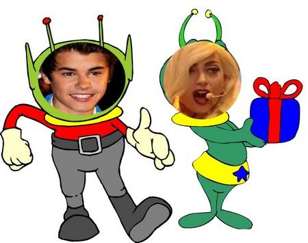 Justin Bieber and Lady Gaga Transform Into Aliens?