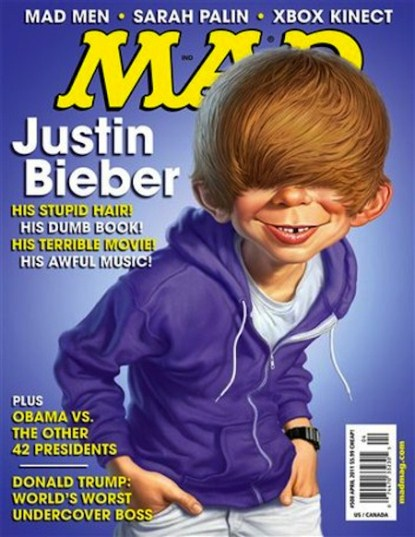 Justin Bieber & His Stupid Hair Cover Mad Magazine