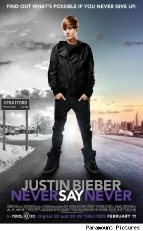 justin bieber never say never movie poster. Justin Bieber#39;s 3D biopic