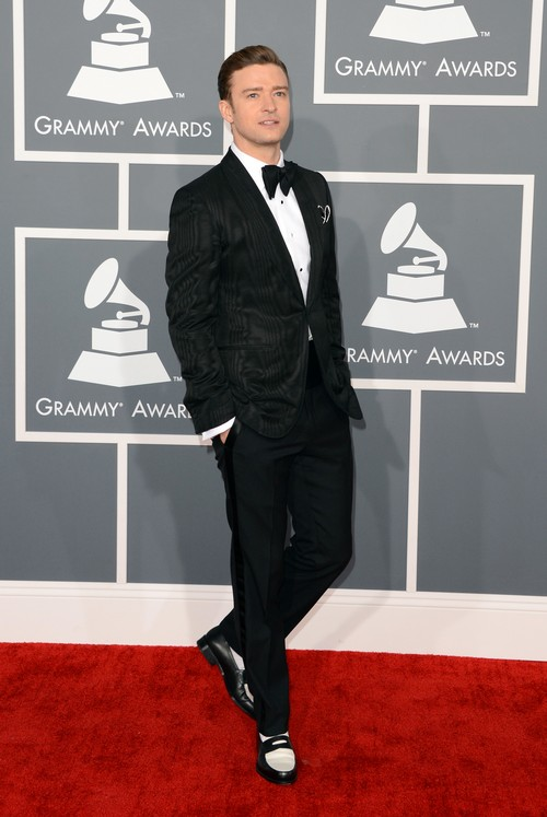 Justin-Timberlake-2013-Grammy-Awards-Red-Carpet-Arrival