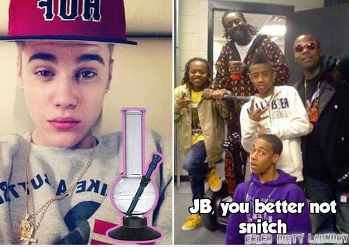 Justin Bieber Throws Bong Water Out Of Van - Confirms Stoner Status?