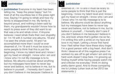 Justin Bieber's Bratty Rant: Confesses He's Too Successful For His Own Good and Way Better Than Lindsay Lohan!