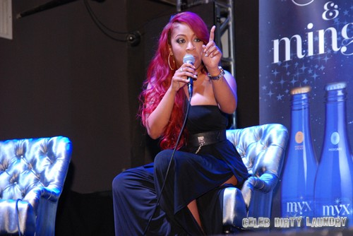 K.Michelle on stage during Q&A(1)