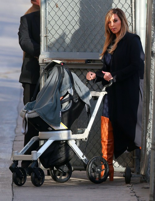 Kim Kardashian and North West Arrive at Jimmy Kimmel Studio to Support Kanye West (PHOTOS)