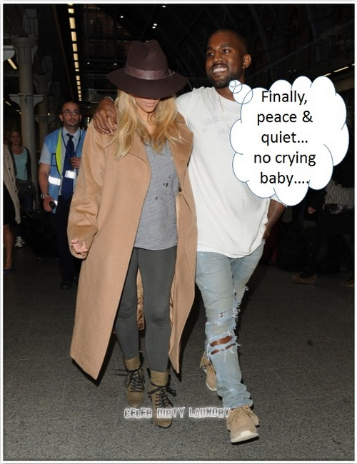 Kim Kardashian Abandons Baby North West For Paris Fashion Week Makeover With Kanye - Monster Mom (PHOTOS)