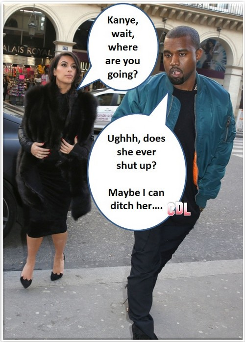 Kim Kardashian Rejected: Kanye West Now Reluctant Baby Daddy (Photo)